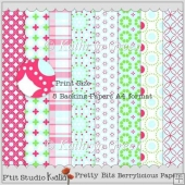 Pretty Bits Berrylicious A4 Backing Papers