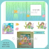 Mermaid Box Card.