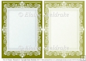 2 x A5 Mustard (1) Lace Frames for Card Making & Scrapbooking