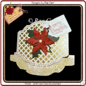 350 Christmas Lattice Rocker Card *Multiple MACHINE Formats*