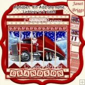 SANTA'S TRUCK Christmas 7.5 Quick Card Kit Create Any Name