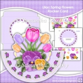 Lilac Pansy Scalloped Easel Card Download