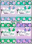 Set of 4 PARTY GIRL Toppers