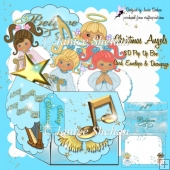 CHRISTMAS ANGELS 3D POP UP BOX CARD KIT