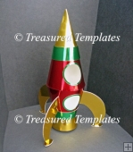 Rocket/Spaceship with Stand and Box - GSD/Studio Ready Template