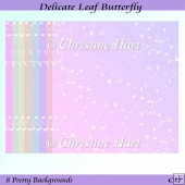 Delicate Leaf Butterfly Backgrounds