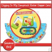 Digging In My Dumptruck Rocking Stepper Card