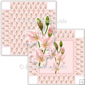 Pink Lilly 5 x 5 Square Box