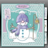 Snowman in Knitted Hat 2 Mini Kit
