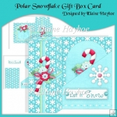Polar Snowflake Gift Box Card