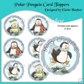 Polar Penguin Christmas Card Toppers