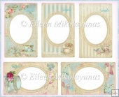 Vintage Tea Cabinet Card Frames for Toppers, Inserts