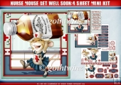 Nurse Mouse Get Well Soon 4 Sheet Mini Kit