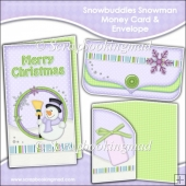 Snowbuddies Snowman Money Card & Envelope