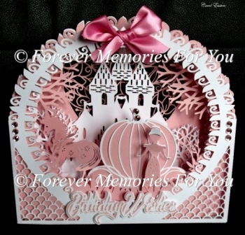 Princess Shadow Box Card, SVG, MTC, SCAL, ScanNCut, Cricut