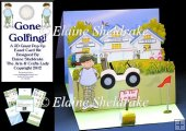Gone Golfing - Pop Up Easel Card Kit