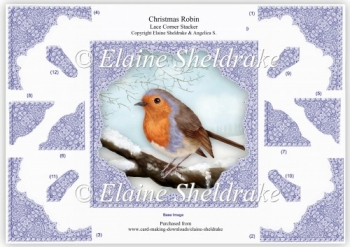 Christmas Robin Step By Step Decoupage Lace Corner Stacker Card