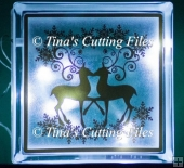 Duo of Reindeers with Snowflake Garlands