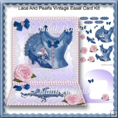 Lace And Pearls Vintage Easel Card Kit
