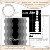 Wavy Side Stacker Pyramage Template 11cm x11cm Commercial Use Ok