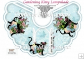 Gardening Kitty Lampshade with Crafting Directions