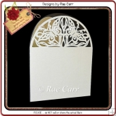 212 Two Butterflies Arched Card *Multiple MACHINE Formats*