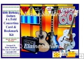 60th Birthday Guitars - Over The Edge Concertina Card Kit