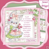BUNNY & CHERRIES with Verse 7.5 Decoupage & Insert Kit