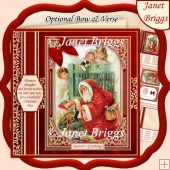A VINTAGE CHRISTMAS 7.8 Quick Vintage Christmas Card & Insert