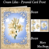 Cream Lilies - Pyramid Card Front