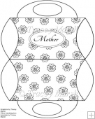 Mother Floral Digitally Stamped Pillow Purse Box