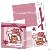 Baby's first Christmas Card kit Girl