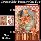Christmas Robin Decoupage Card Front