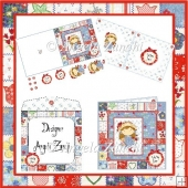 PATCHWORK POPPY 6X6 CARD WITH 2 BONUS TOPPERS