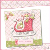 Pretty Pink Sleigh Christmas Quick Card