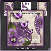 Vintage Butterflies and Flowers Card Kit 1062