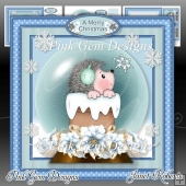 Hedgehog Snow Globe Mini Kit