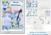 Male Christmas Card inserts, envelope, decoupage