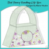 Teal Pansy Handbag Gift Box