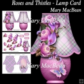 Roses and Thistles - Lamp Card