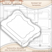 Notelet Set Template Commercial Use OK