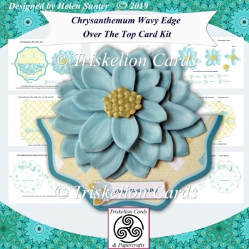 Chrysanthemum Wavy Edge Over the Top Card Kit with Inserts & Env