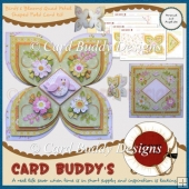 Birds & Blossoms Quad Petal Shaped Fold Card Kit