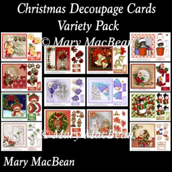 Christmas Decoupage Cards Variety Pack