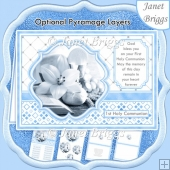 1st HOLY COMMUNION BLUE A5 Pyramage verse & Inserts Card Kit
