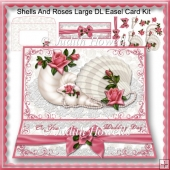 Shells And Roses Large DL Easel Card Kit