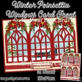 Winter poinsettia Windows Card Front
