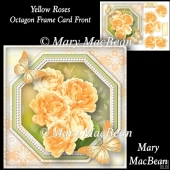 Yellow Roses - Octagon Frame Card Front
