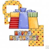Happy Birthday Gift Easel Card Set