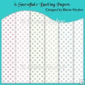 6 Snowflake Backing Papers